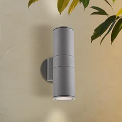 "Possini Euro Ellis 11 3/4"" High Silver Outdoor Wall Light"