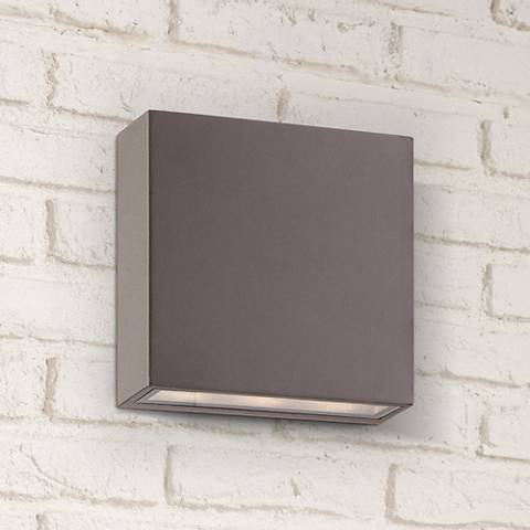 Stanford Bronze Outdoor LED Wall Up and Downlight