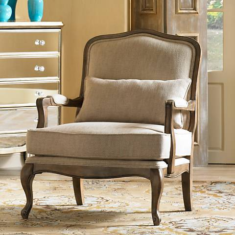 Ducey Beige Accent Chair by Kensington Hill