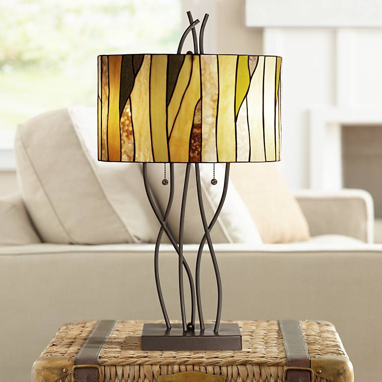 Robert Louis Tiffany Oak Vine Table Lamp