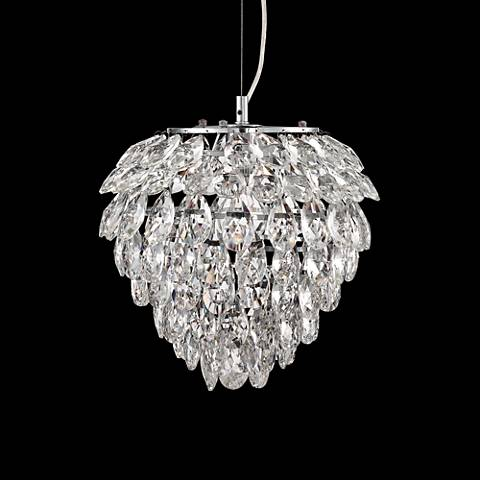 "Possini Euro Design Isabela 12"" Wide Crystal Pendant Light"