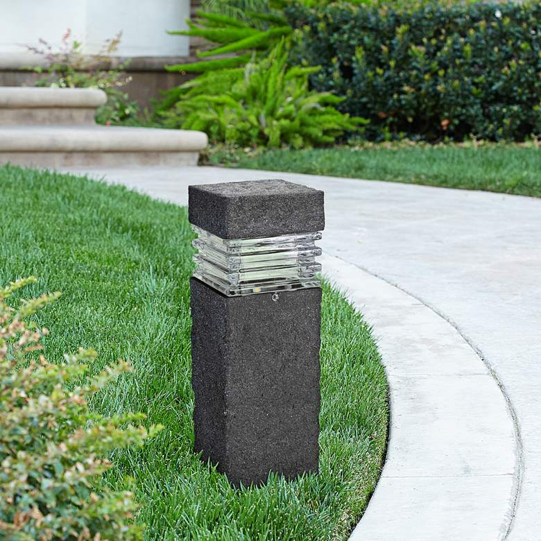 Bollard Stone Finish Low Voltage LED Landscape Path Light