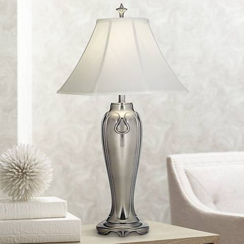 Stiffel Antique Nickel Table Lamp