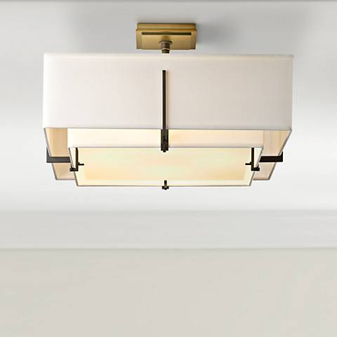 Hubbardton Forge Exos Dark Smoke Ceiling Light