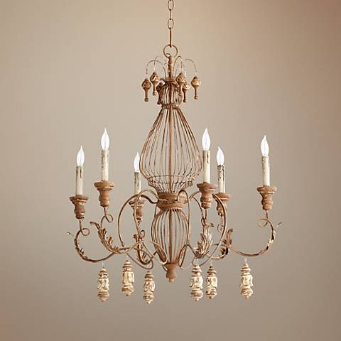 "Quorum La Maison 28"" Wide French Umber Chandelier"