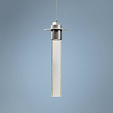 "Hubbardton Forge Airis 4"" Wide Platinum Small Mini Pendant"