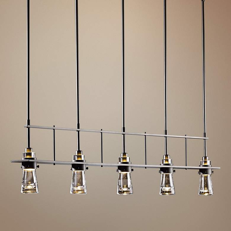 Hubbardton Forge Erlenmeyer Dark Smoke 5 Light Pendant