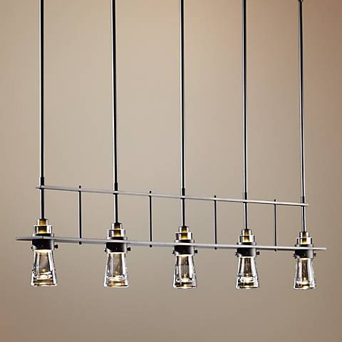 Hubbardton Forge Erlenmeyer Dark Smoke 5-Light Pendant