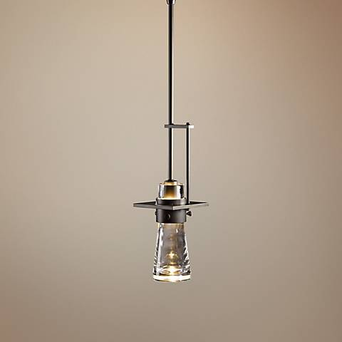 "Hubbardton Forge Erlenmeyer 4"" Wide Dark Smoke Mini Pendant"