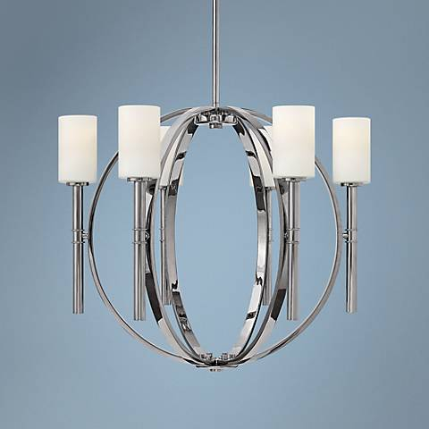 "Hinkley Margeaux 29"" Wide Polished Nickel Chandelier"