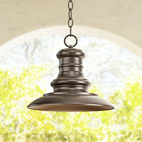 "Redding Station 10 3/4""H Bronze Outdoor Hanging Lantern"