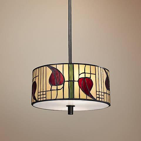 "Mackintosh 14"" Wide Dale Tiffany Pendant Light"