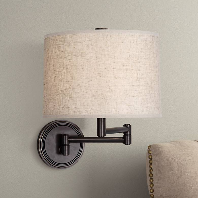 Robert Abbey Sofia Patina Bronze Swing Arm Wall Lamp