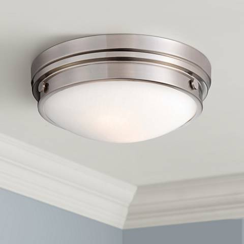"Culver Collection 13 1/4"" Wide Brushed Nickel Ceiling Light"