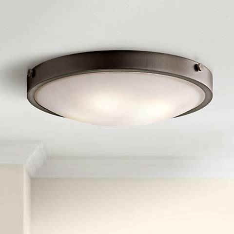 "Kichler Lytham 20 1/2"" Wide Olde Bronze Ceiling Light"