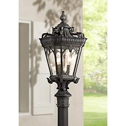 "Kichler Tournai 27"" High Black Outdoor Post Light"