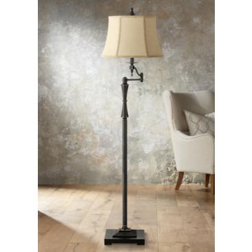 Granville Oil-Rubbed Bronze Swing Arm Floor Lamp