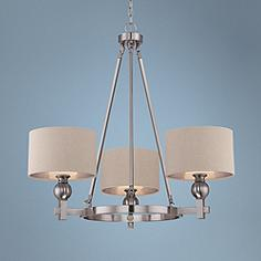 Quoizel Metro 3 Light Brushed Nickel Chandelier