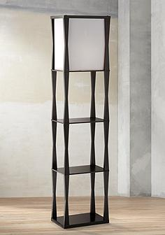 Black asian floor lamps lamps plus haiku etagere floor lamp aloadofball Images
