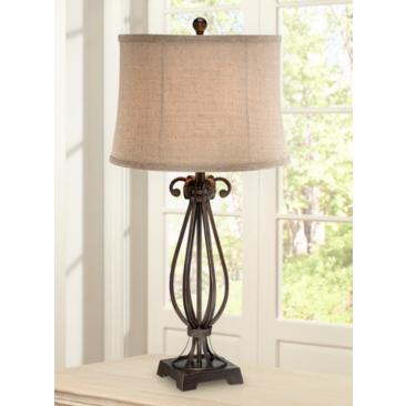 Taos Scroll Iron Table Lamp by Regency Hill