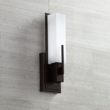 "Possini Euro Design Midtown 15"" High Bronze LED Wall Sconce"