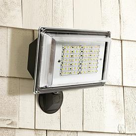 12 1 4 H Dusk To Dawn Bronze 42 Watt Outdoor Led