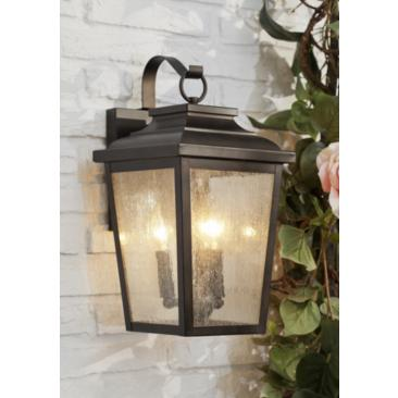"Minka Irvington Manor 16 3/4"" High Bronze Outdoor Wall Light"