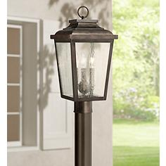 Asian post light outdoor lighting lamps plus irvington manor 18 irvington manor 18 high bronze outdoor post mount light mozeypictures Gallery