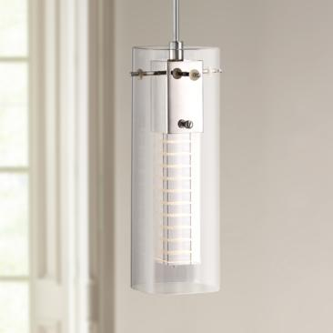 "Possini Euro Kaser 4 3/4"" Wide Clear Glass LED Mini Pendant"