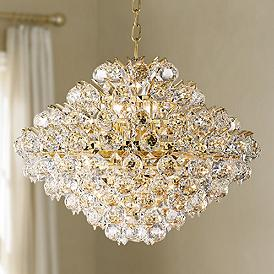 Vienna Full Spectrum Essa 20 Wide Gold Crystal Pendant