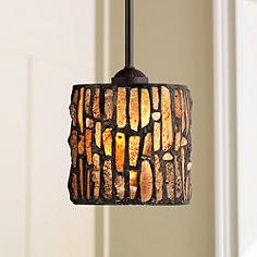 Tiffany mini pendant lighting fixtures lamps plus strada mosaic 7 wide tiffany style mini pendant light mozeypictures Image collections