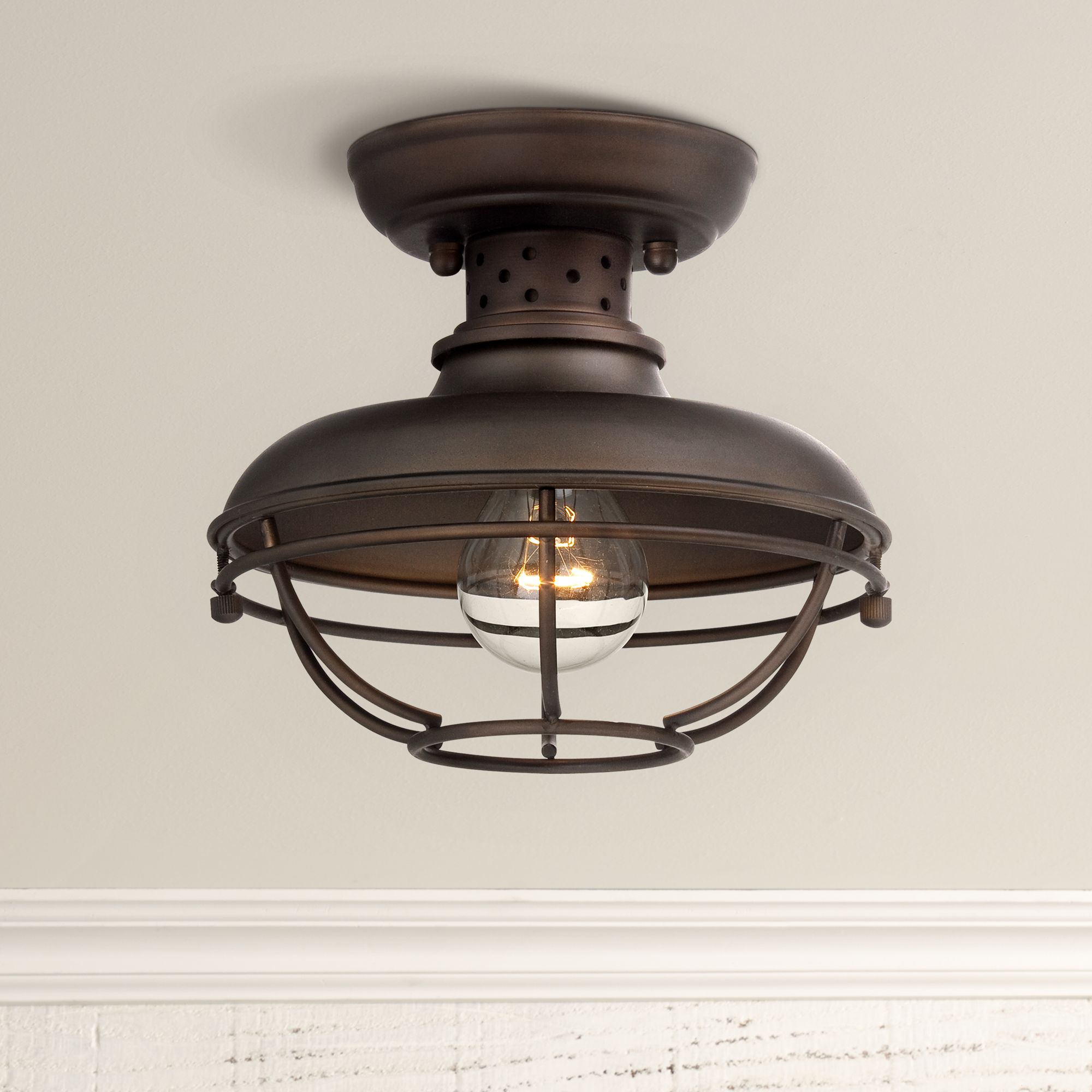 Outdoor Flush Mount Lighting Fixtures for Patio or Porch Lamps