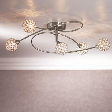 "Possini Euro Orella 28 1/2""W Brushed Nickel Ceiling Light"