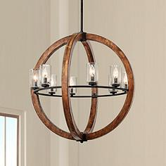 Wood chandeliers lamps plus grand bank 28 wide double wood chandelier by kichler aloadofball