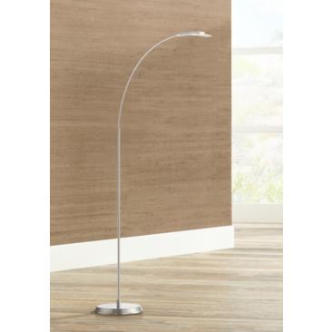 Salvo Satin Nickel Finish Modern LED Floor Lamp