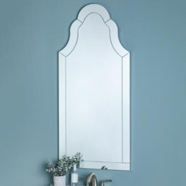 "Chindwin 20"" x 44"" Frameless Arched Wall Mirror"