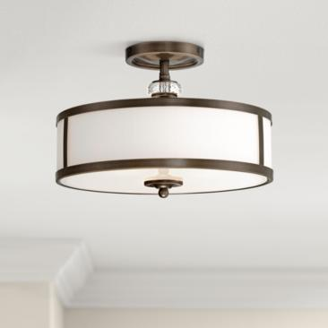 "Thorndale 15"" Wide Dark Noble Bronze Ceiling Light"