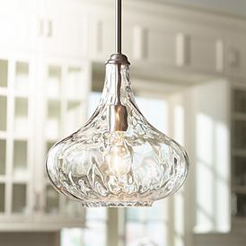 Cora 11 Wide Brushed Nickel Mini Pendant