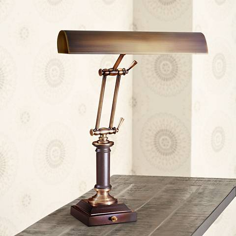 "House of Troy 16 1/2"" High Chestnut Bronze Piano Desk Lamp"