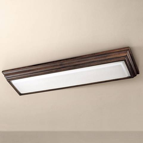 "Minka 53"" Wide Belcaro Walnut Fluorescent Ceiling Light"