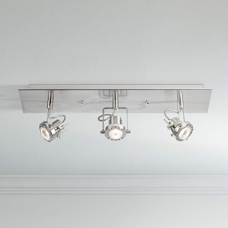 LED Pro Track® European Style Satin 3-Light Fixture