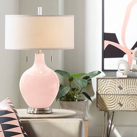 Rose Pink Toby Table Lamp