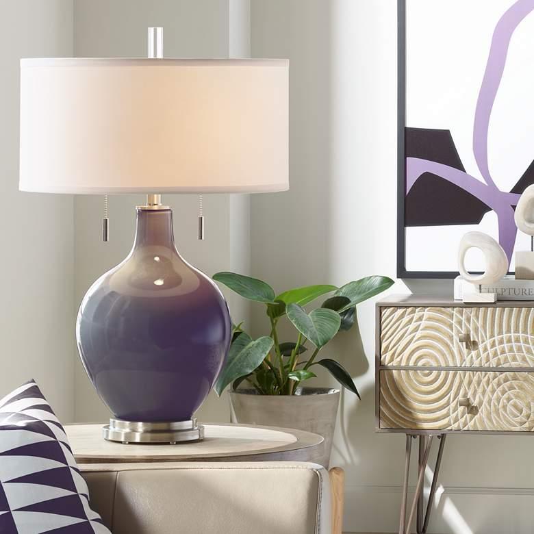 Quixotic Plum Toby Table Lamp