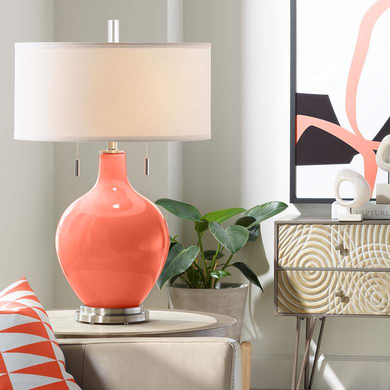 Daring Orange Toby Table Lamp