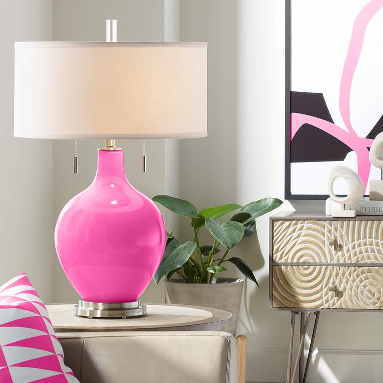 Fuchsia Toby Table Lamp