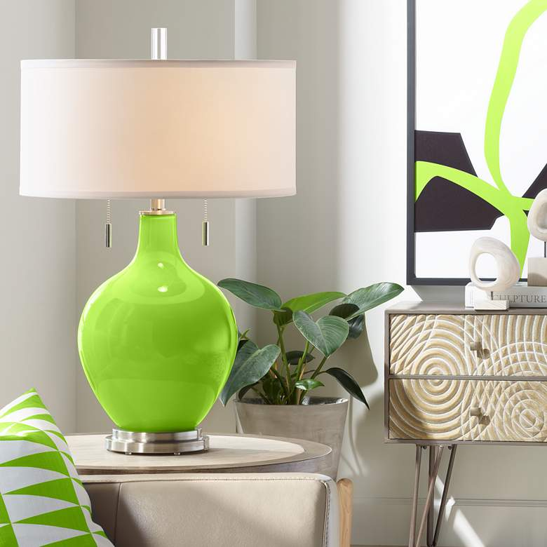 Neon Green Toby Table Lamp