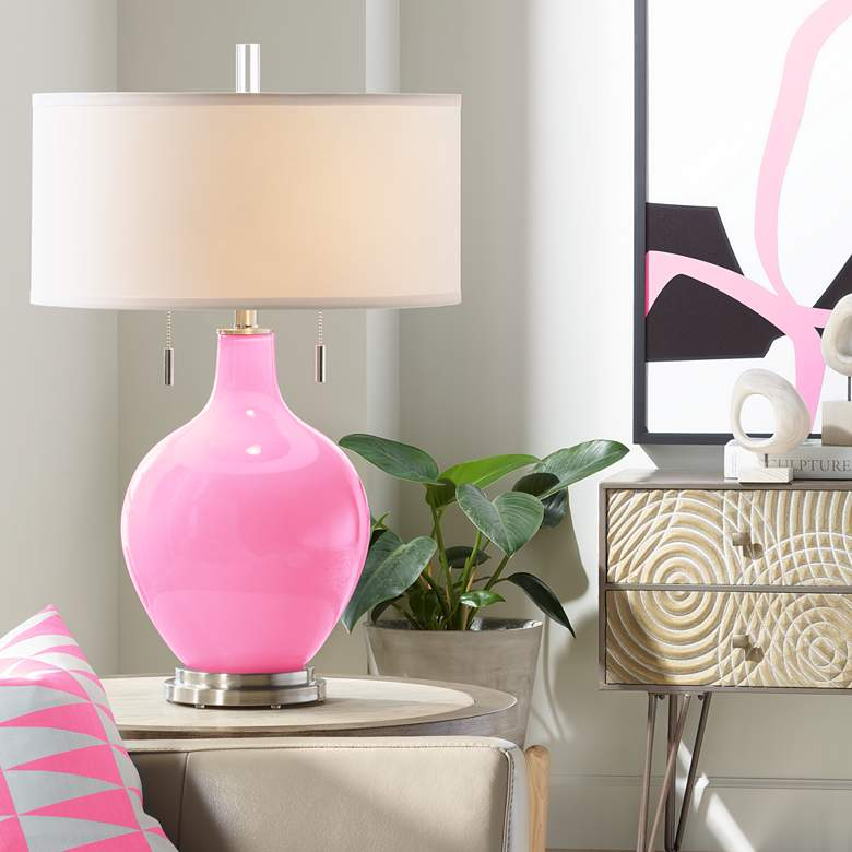 Candy Pink Toby Table Lamp