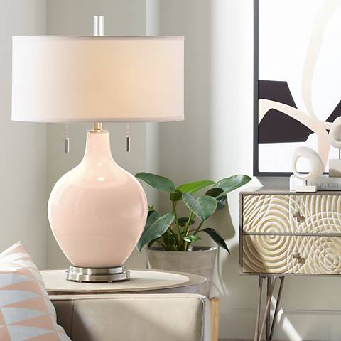 Linen Toby Table Lamp