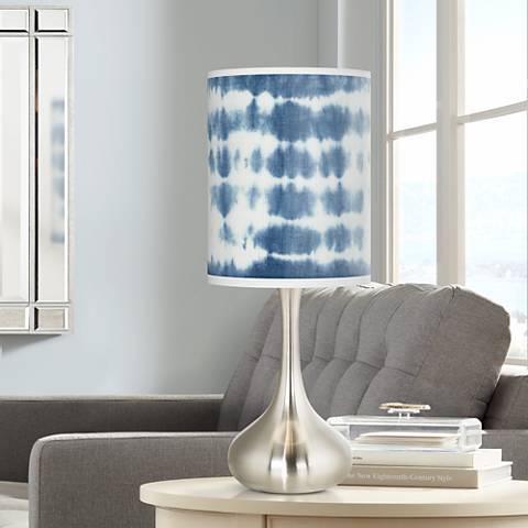 Shibori Surf Giclee Droplet Table Lamp