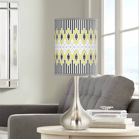 Desert Geometric Giclee Droplet Table Lamp